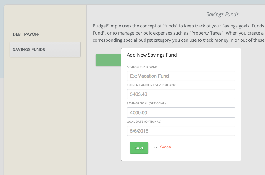 Feature Friday – Savings Funds